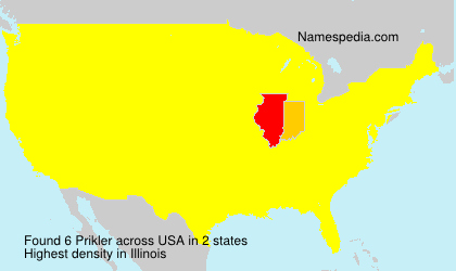 Surname Prikler in USA