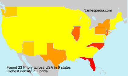 Surname Priory in USA