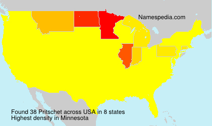 Surname Pritschet in USA