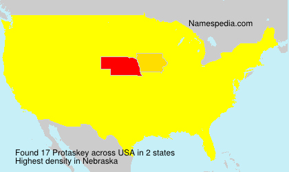 Surname Protaskey in USA