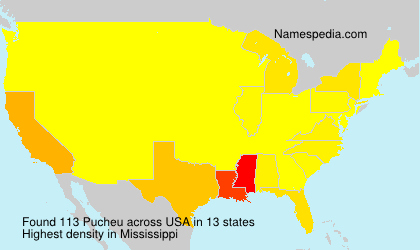 Surname Pucheu in USA