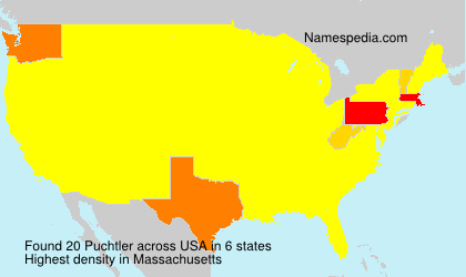 Surname Puchtler in USA