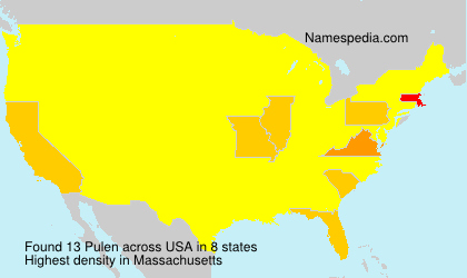 Surname Pulen in USA
