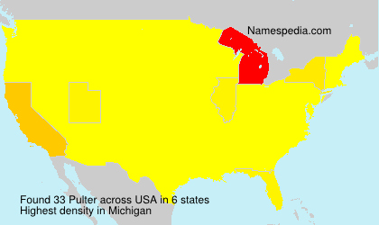 Surname Pulter in USA