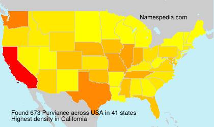 Surname Purviance in USA