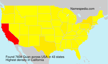 Surname Quan in USA