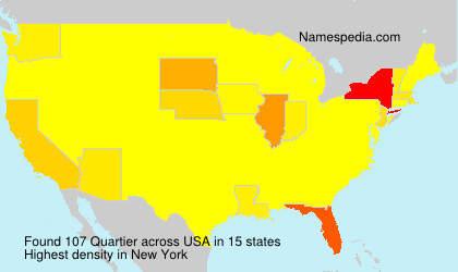 Surname Quartier in USA