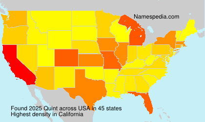 Surname Quint in USA