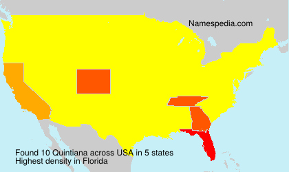 Surname Quintiana in USA