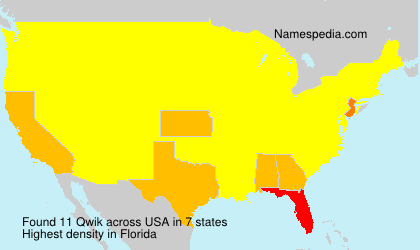 Surname Qwik in USA