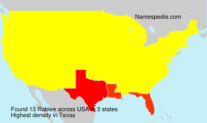 Surname Rablee in USA
