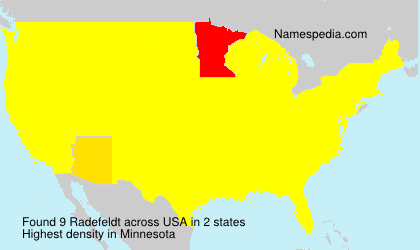 Surname Radefeldt in USA