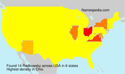 Surname Radkowsky in USA