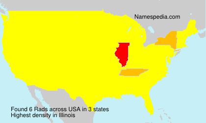 Surname Rads in USA