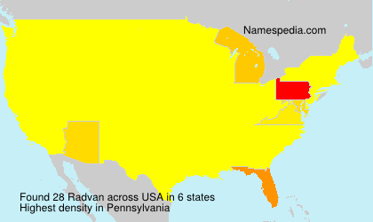 Surname Radvan in USA