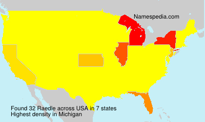 Surname Raedle in USA