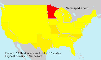 Surname Raeker in USA