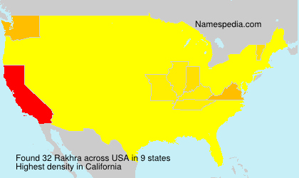 Surname Rakhra in USA