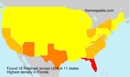 Surname Ralphael in USA