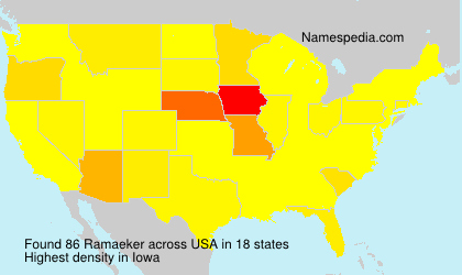 Surname Ramaeker in USA
