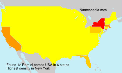 Surname Ramiel in USA