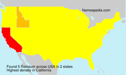 Surname Ramsum in USA
