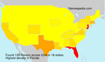 Surname Ranero in USA