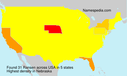 Surname Ransen in USA