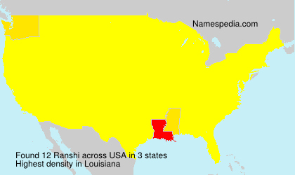 Surname Ranshi in USA