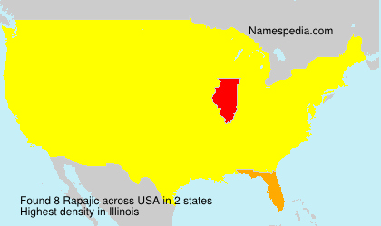 Surname Rapajic in USA