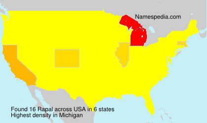 Surname Rapal in USA