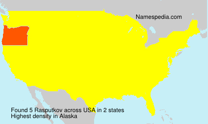 Surname Rasputkov in USA