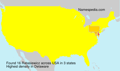 Surname Ratasiewicz in USA