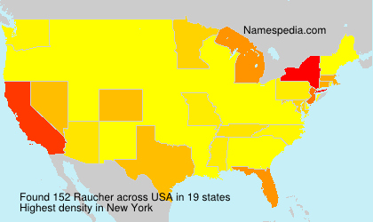 Surname Raucher in USA