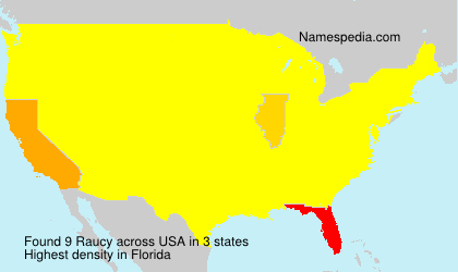 Surname Raucy in USA