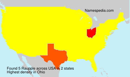 Surname Raupple in USA