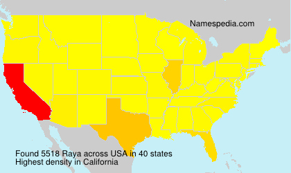 Surname Raya in USA
