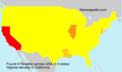 Surname Readdie in USA