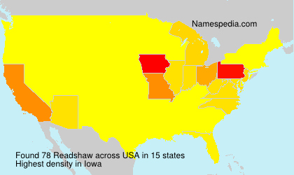 Surname Readshaw in USA