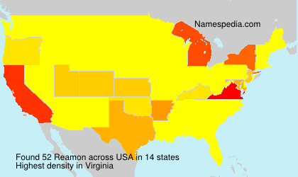 Surname Reamon in USA