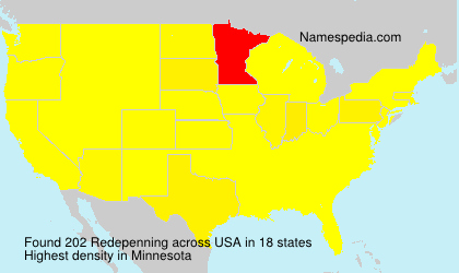 Surname Redepenning in USA