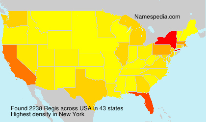 Surname Regis in USA