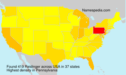 Surname Reidinger in USA
