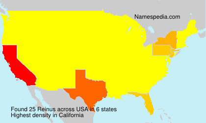 Surname Reinus in USA