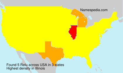 Surname Relu in USA