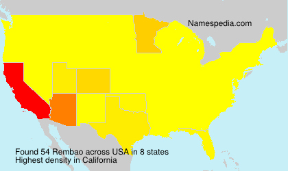 Surname Rembao in USA