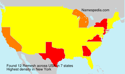 Surname Remesh in USA