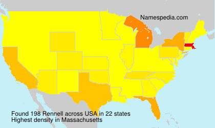 Surname Rennell in USA