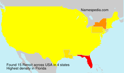 Surname Renoit in USA