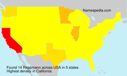 Surname Reppmann in USA